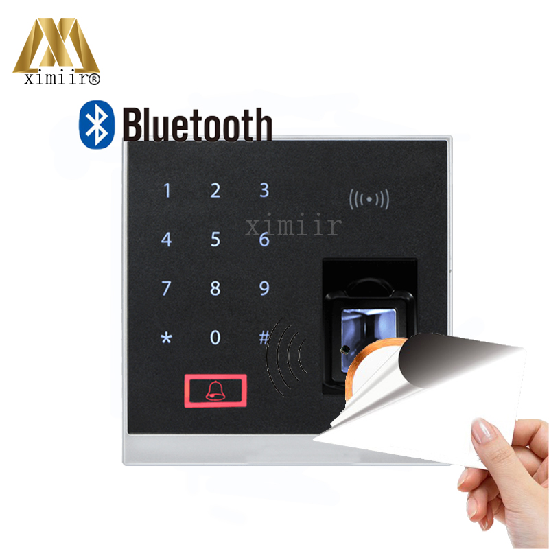X8-BT Fingerprint And MF Card Access Control With Bluetooth 500 Fingerprint Capacity Biometric Fingerprint Access Control System