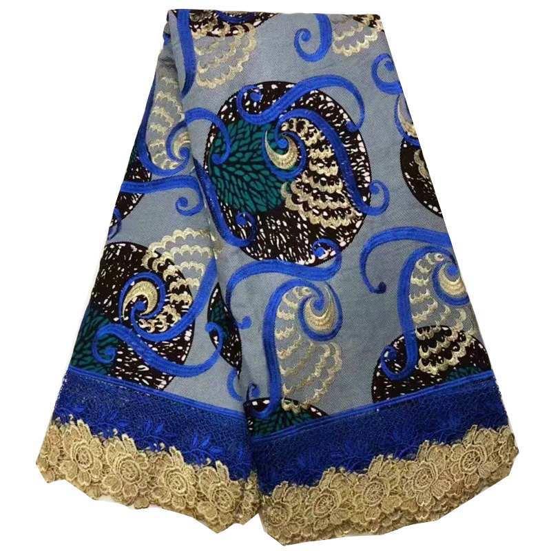 새로운 도착 아프리카 왁스 레이스 원단 멀티 컬러 디자인 나이지리아 자수 레이스 앙카라 왁스 원단 여성 파티 드레스 6 야드-에서직물부터 홈 & 가든 의  그룹 2