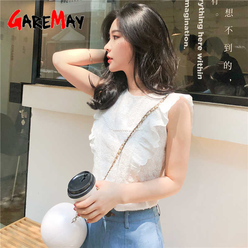 GareMay blusas mujer de moda 2019 blusa mujer camisa blanca señoras mujeres tops y blusas mujer verano tops para mujer 2019