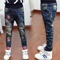 Детская одежда бренда детей брюки новый мальчик осень одежды джинсы стиль, дети рваные джинсы + детские джинсы + мальчиков джинсы