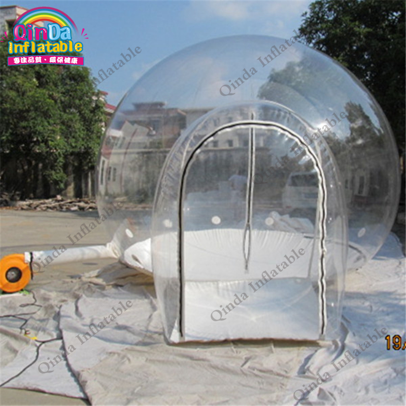 Free air blower tree camping equipment inflatable transparent tent,inflatable bubble tent for event