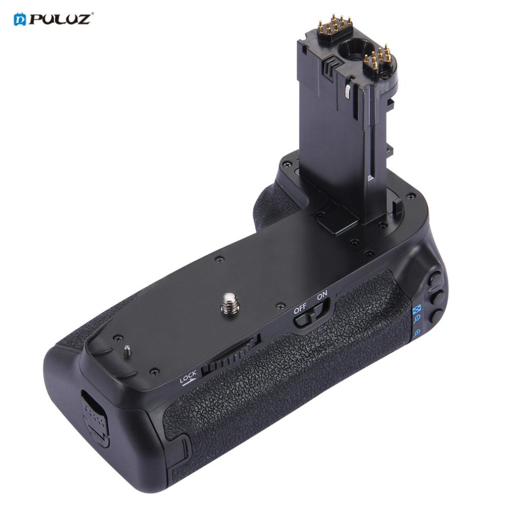 PULUZ PU2509 support de batterie de remplacement de batterie de caméra verticale pour Canon EOS 7D Mark II appareil photo reflex numérique