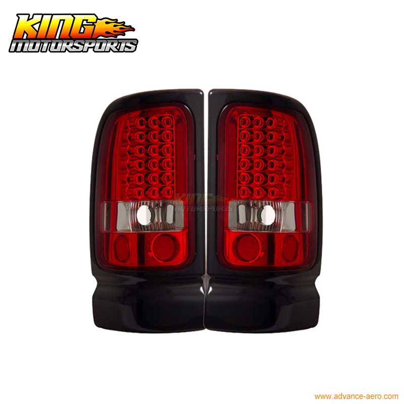 For 1994-2001 Dodge Ram Pickup LED Tail Lights Red Clear 95 96 USA Domestic Free Shipping карандаш для губ absolute new york perfect wear lip liner 01 цвет abpw01 nude papaya variant hex name db804b