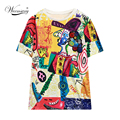 Well-made colorful Sequin clown print Casual Women T shirt Plus big size Brand T-Shirts Women Oversized Loose Tee Tops TS-065