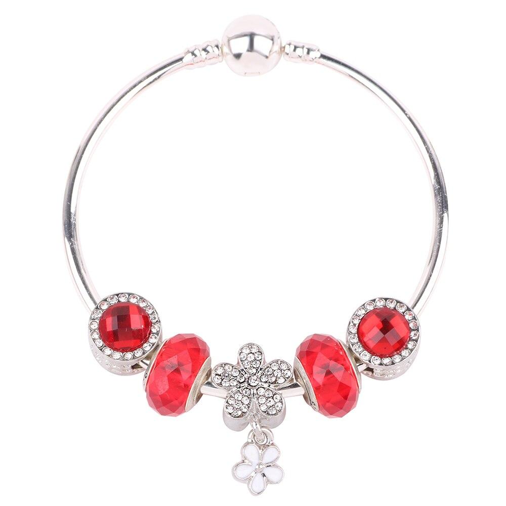 dodocharms High Quality Red Glass Beads Bracelet DIY Applicable for Women Bracelet European Hot Sale