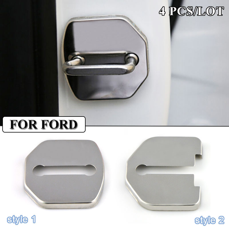 Ceyes Car Styling Stainless Steel Car Door Lock Cover Accessories For Ford Focus 2 3 Mondeo Ecosport Kuga Mk3 Mk4 Car-Styling