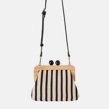 New fashion wooden clip ladies shoulder bag summer travel beach luxury handbags designer 2019