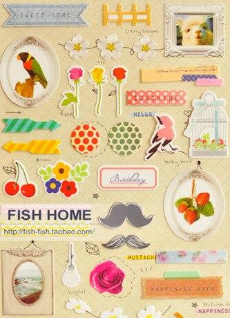 20 Pcs Lot Scrapbooking Stickers Notepad Stationery Decorative