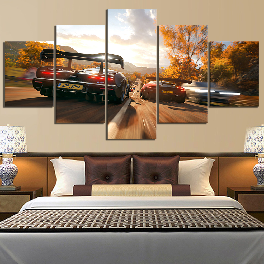 Modern Decorative Room Decor Wall Art Painting HD Print Canvas For Living Canvas For Wall Art 5 Piece Need For Speed Game image