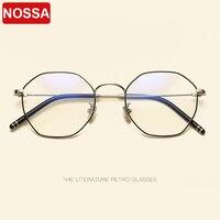 2019 Brand Designer Vintage Metal Glasses Frames Metal Irregular Eyewear Frames Excellent Trendy Polygon Flat Optical Glasses.