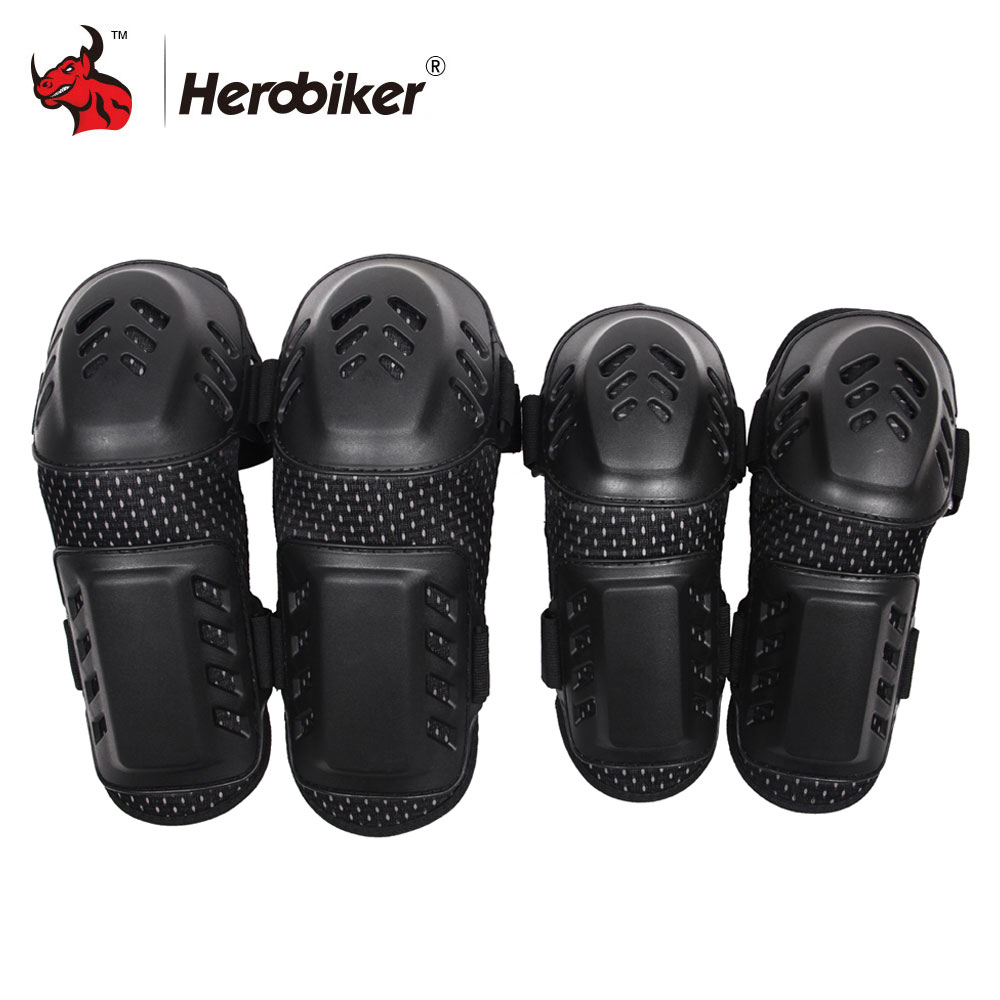 HEROBIKER Motorcycle Knee Pads Protective Gear Motocross Off-Road Racing Knee + Elbow Pads Set Noto Knee Motorcycle EquipmentHEROBIKER Motorcycle Knee Pads Protective Gear Motocross Off-Road Racing Knee + Elbow Pads Set Noto Knee Motorcycle Equipment