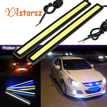 Hot 2X 17cm super bright LED COB pure white car automatic driving DRL daytime running lights waterproof bar zone DC12V