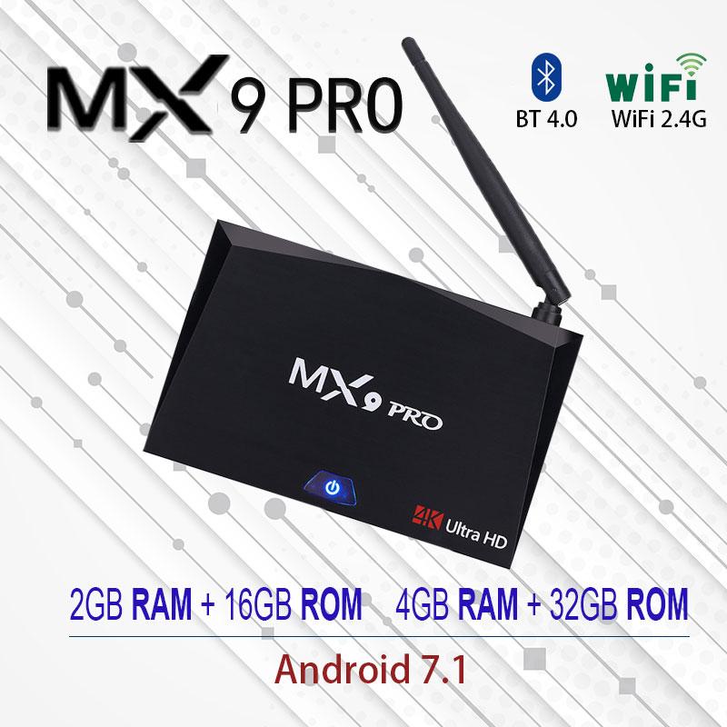 MX9 Pro 4GB RAM 32GB ROM Android 7.1 TV Box RK3328 Quad Core 2.4G/5G WiFi Bluetooth 4.1 Smart Set-top Box HDR10 4K Media Player