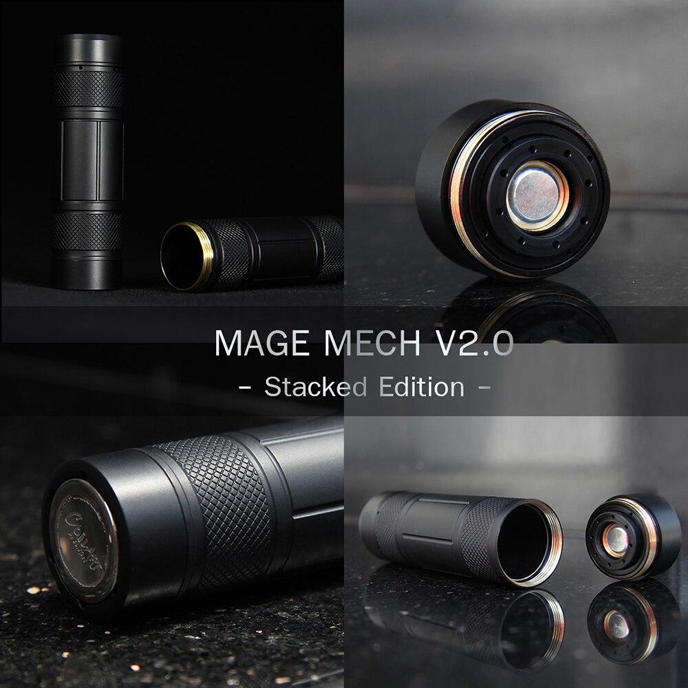 Coilart Mage Mech Mod Cigarette électronique Vape Mod alimenté par 18650/20700/21700 Vape vaporisateur pour Mage RTA Vs Elite Mech Mod - 5