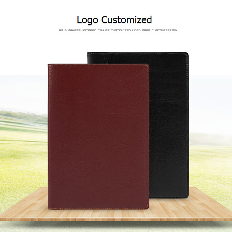 Paperboat Business Logo Custom Leather Notebook Office School Supplies Company Diary Planner Book A5 Binder Stationery fashion business pu leather a5 notebook portable black red book travel journal planner diary stationery office & school supplies