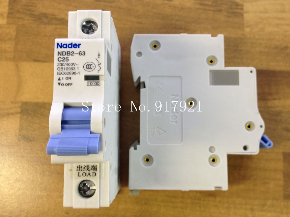 [ZOB] Nader letter NDB2-63 C25 miniature circuit breaker 1P25A unipolar air switch to ensure genuine --12pcs/lot