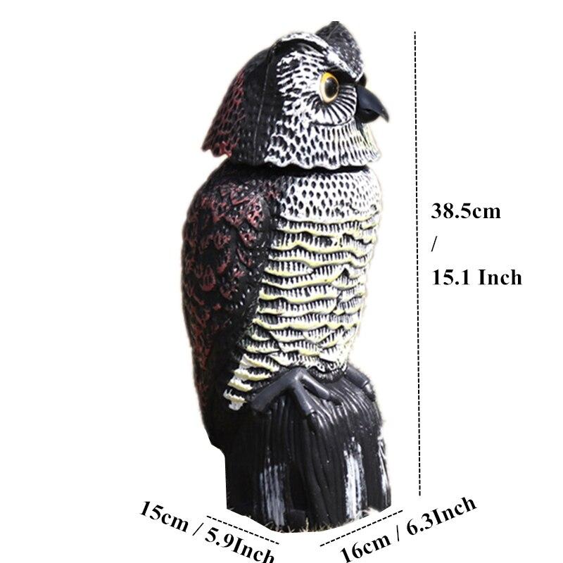 Figurines Miniatures accessoires décor à la maison 15 ''tête tremble hibou créatif sage hibou modèle Miniatures animaux Statuettes Vintage
