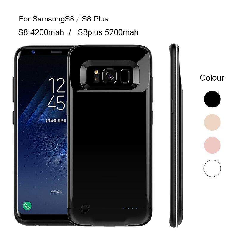 imágenes para Inalámbrico Caja de Batería Para Samsung Galaxy Plus S8plus S8 s8 S8 + Cubierta Casos de Carga Recargable PowerBank Banco de la Energía de Batería