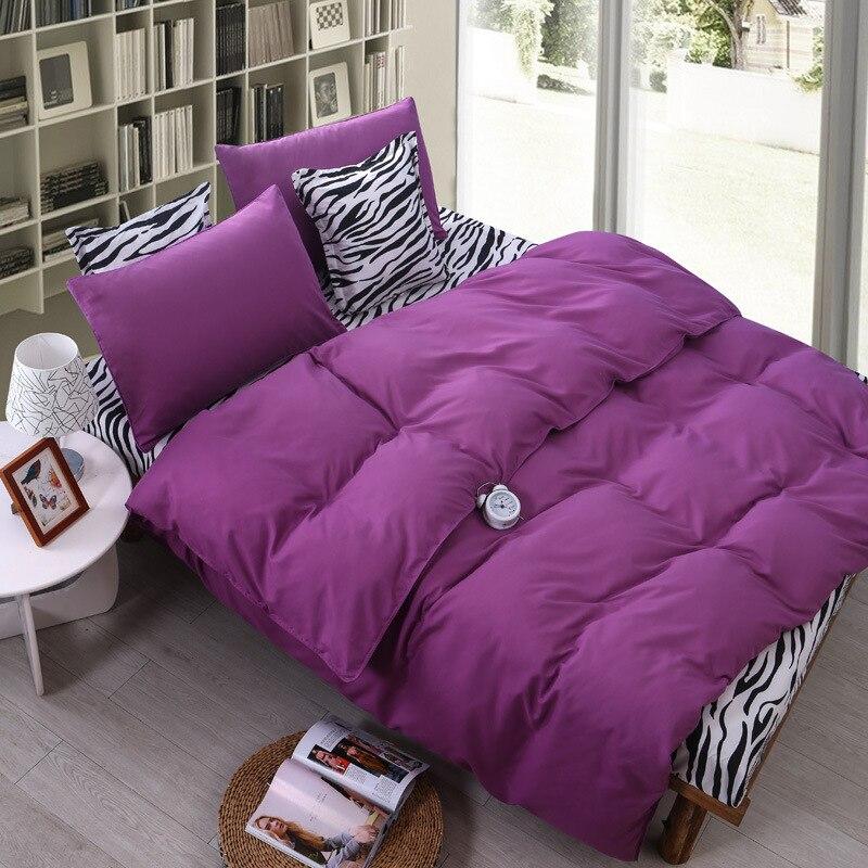 2016 4Pcs Home Leopard Solid Bedding Sets Flowers Cotton Bedding Set King Size Bed Sheet Duvet
