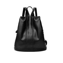 Двойной плечо рюкзак, серия Han, отдыха и мягкой кожи женская пакет путешествия