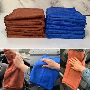Image 3 - 1pc serviette microfibre voiture Auto nettoyage séchage tissu absorbant doux voiture soin chiffon Duster détaillant lavage de voiture 35x75cm