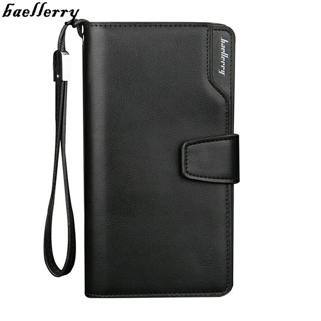 2016 new famous brand baellerry men wallets business style wallet men purse clutch leather wallet long design gift for men N030