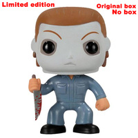 Limited Edition HALLOWEEN MICHAEL MYERS Movie Toys Action Figure Bobble Head Q Edition For Car Decoration