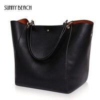 2017 New Fashion Designer Retro Simple Shoulder Bag Genuine Leather Women Handbags