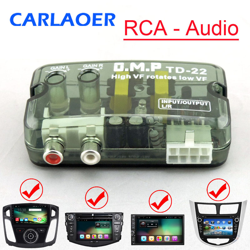 12V Universal RCA Line Car Subwoofer Stero Radio Converters Speakers High To Low Car Audio Amplifier Impedance Converter 1