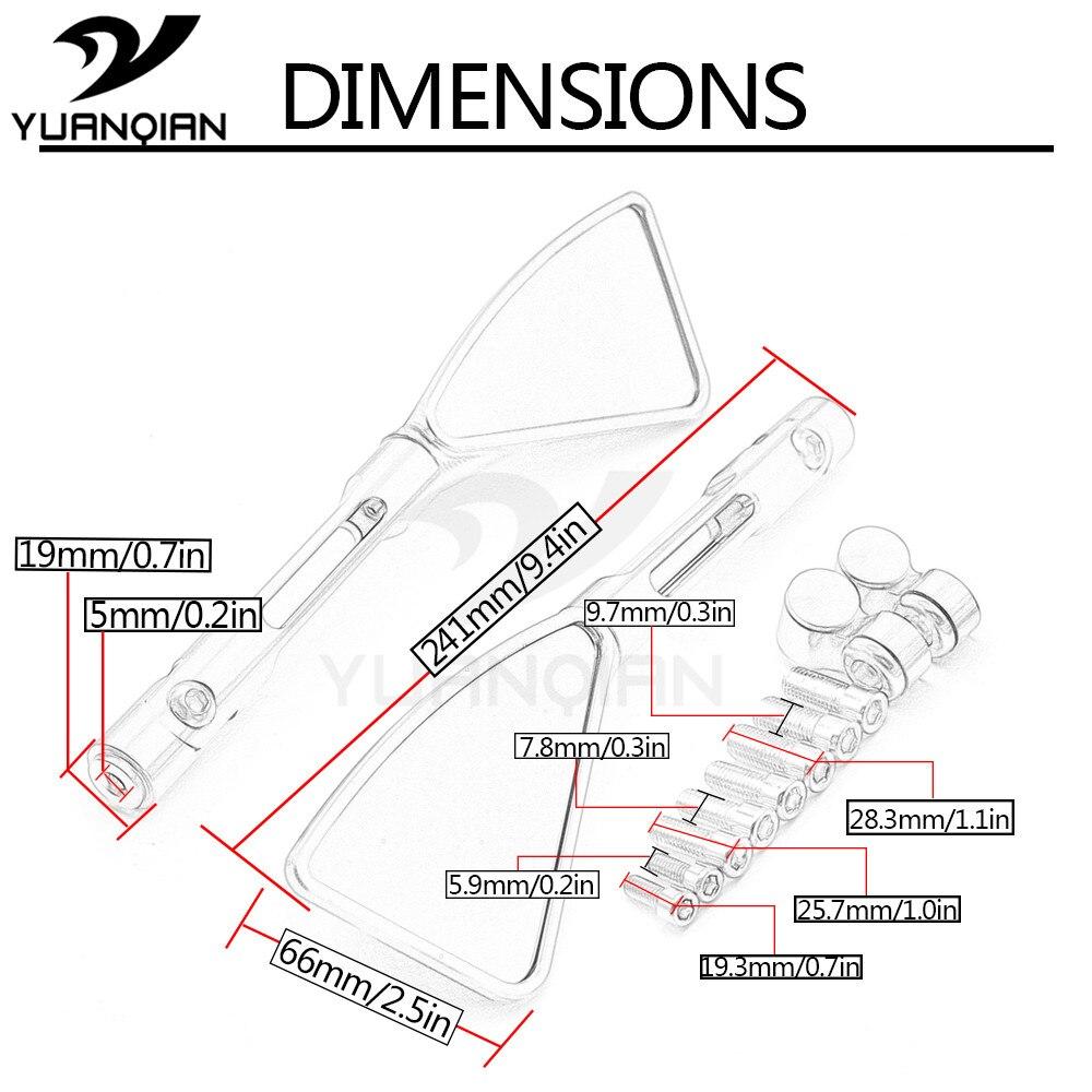 Universal Motorcycle հայելիներ Rearview Side Mirror for KTM - Պարագաներ եւ պահեստամասերի համար մոտոցիկլետների - Լուսանկար 6