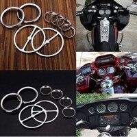 Speedometer Gauges Bezels Horn Cover For Harley Davidson Electra Street Glide