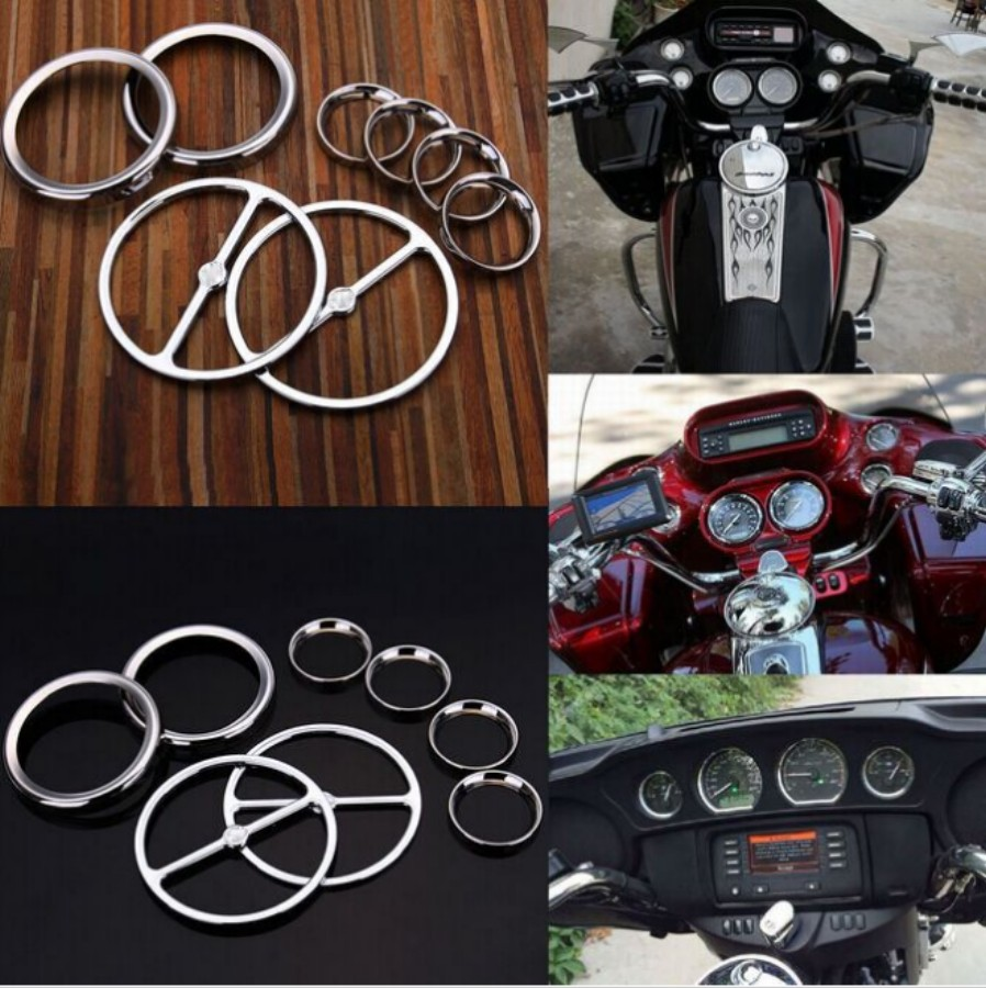 ФОТО Motorcycle Accessories Speedometer Gauges Bezels Horn Cover For Harley-Davidson Electra Street Glide