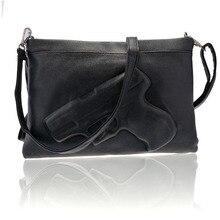 Fashion Woman designer-handtaschen Hohe Qualität PU Kupplung Umhängetaschen Cool 3D Pistole hand tasche