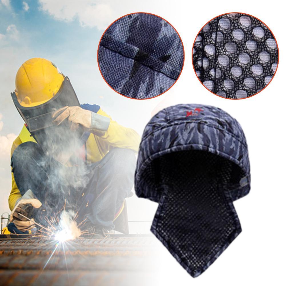 Flame Retardant Fire Resistant Head Protective Welding Hat Welder Anti-scalding Hat Work Cap Welding Protective Equipment