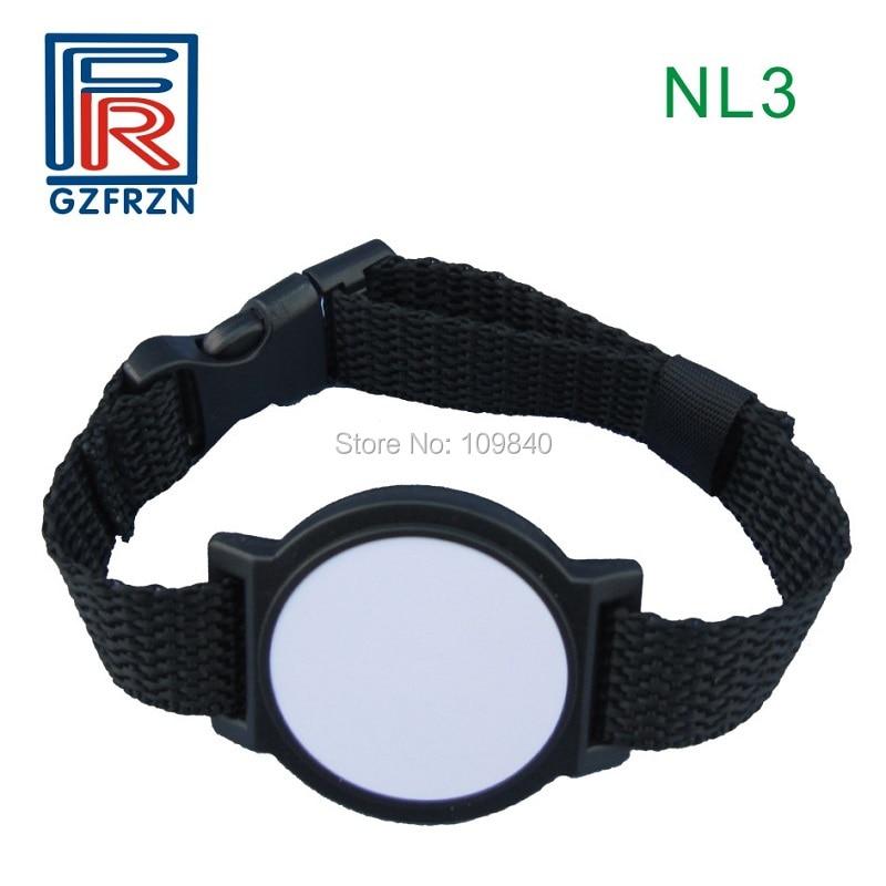 500pcs RFID nylon wristband with TK4100 EM4100 125khz chip bracelet/card/tag for access control system survival nylon bracelet brown