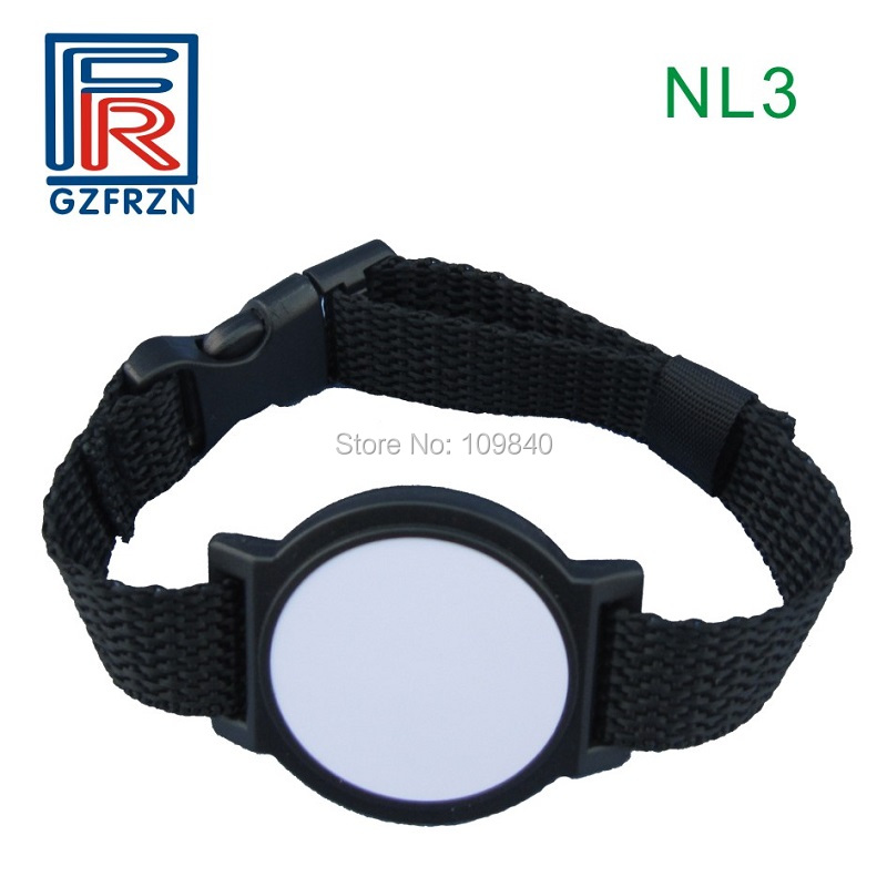 500pcs RFID nylon wristband with TK4100 EM4100 125khz chip bracelet/card/tag for access control system
