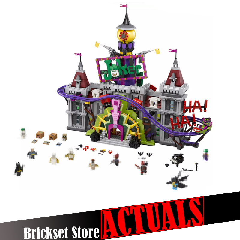 LEPIN 07090 The Joker Manor DC Super Heroes Batman Figures Building Blocks Bricks Toys For Boy oyuncak Compatible with 70922 lepin 07056 775pcs super heroes movie blocks the scuttler toys for children building blocks compatible legoe batman 70908