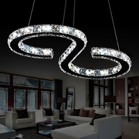 Ju Sheng LED Crystal Lamp Chandelier Lamp Restaurant Study Modern Minimalist Atmosphere Bedroom Lamps Lighting