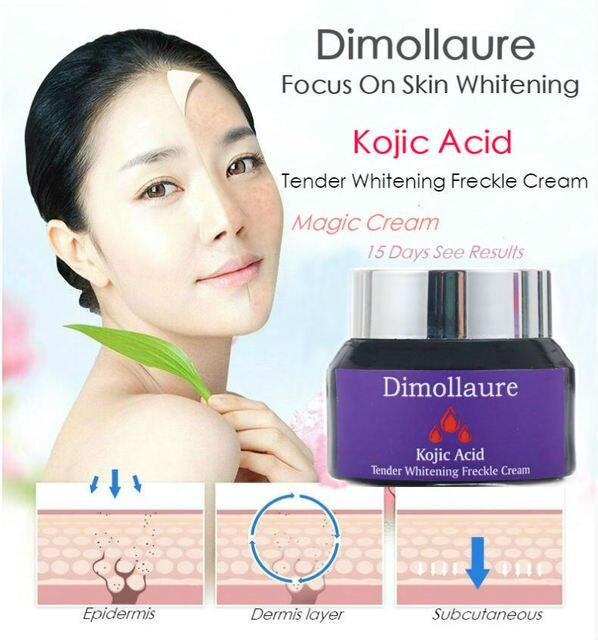 Dimollaure kojic acid whitening cream Retinol Vitamin peptides Argireline serum Remove Freckle melasma pigment Melanin dark Spot 2