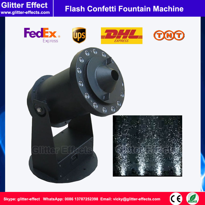 DJ stage special effect metalic aluminum color paper flash confetti indoor fountain shooter blower machine купить
