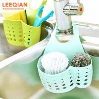 3pcs Kitchen Sink Faucet Caddy Bath Hanging Organizer Sink Draining Soap Sponge Towel Holder Pocket Sink Caddy Storage Baskets 2
