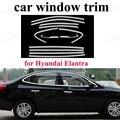 Для H-yundai Elantra внешние аксессуары для автомобиля Стайлинг из нержавеющей стали отделка окна Декоративная полоса