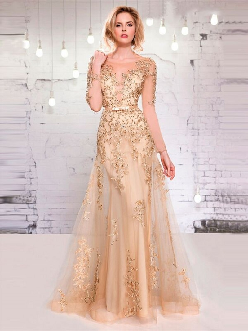 Aliexpress.com : Buy Long Sleeve Lace Prom Dress Vintage vestidos ...