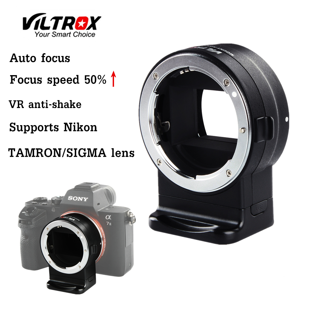 VILTROX NF E1 Auto Focus Lens Adapter Aperture Control for Nikon F Lens to Sony E