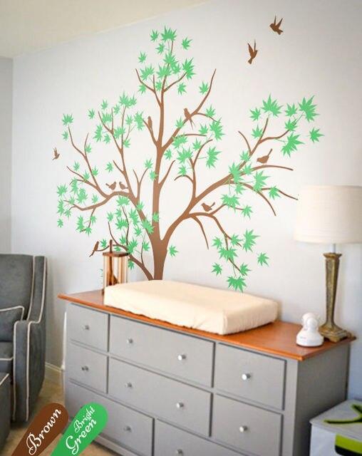 Frühling Inspiriert Baum Wand Dekoration, Wandtattoos, Abnehmbare  Wandtattoos DIY Abnehmbare Wandaufkleber Größe 67*