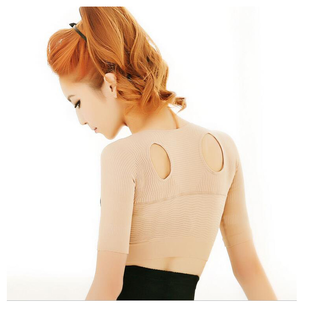 Women Shoulder Seamless Support Push Up Breast Back Posture Corrector Beauty Vest Shapewear Stylish Slimming Arms Shaper