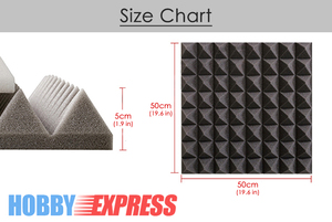 """Image 2 - Arrowzoom 19.6 """"x 19.6"""" x 1.9 """"48 قطعة مجموعة لوحة امتصاص الصوت الهرم استوديو رغوة صوتية البلاط 5 مجموعات الألوان KK1034"""