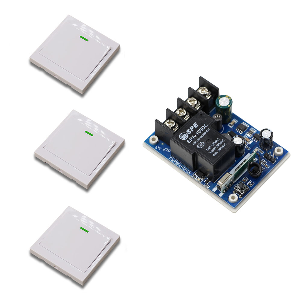 DC 12V 24V 36V 48V Remote Control Switch Home Room Stairway Light Lamp Bulb LED Switch Relay Receiver + Wall Pannel Transmitter dc 12v photoresistor module relay light detection sensor light control switch l057 new hot