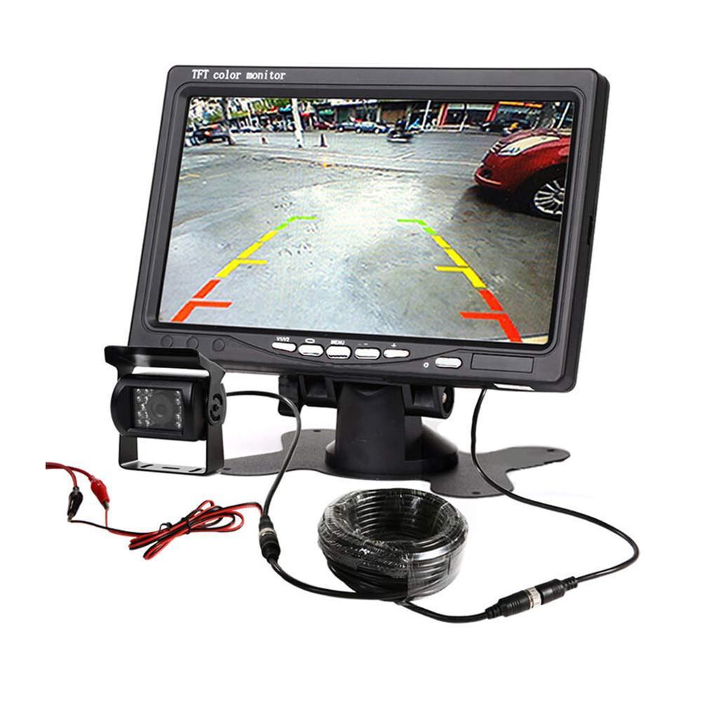 7 Inch Car HD LCD Display +18 LED Bus Camera Monitor Kit Rear View Display Reversing Rear View System Display Screen
