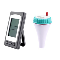 Wireless Thermometer with LCD Receiver Waterproof Temperature Meter for Swimming Pool Spa Hot Tub BHD2